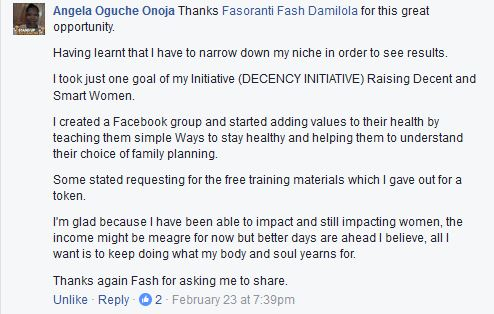Angela-Facebook-Comment-About-Groups